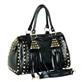 [Special Temptation] Stylish Black Double Handle Leatherette Bag Handbag Purse
