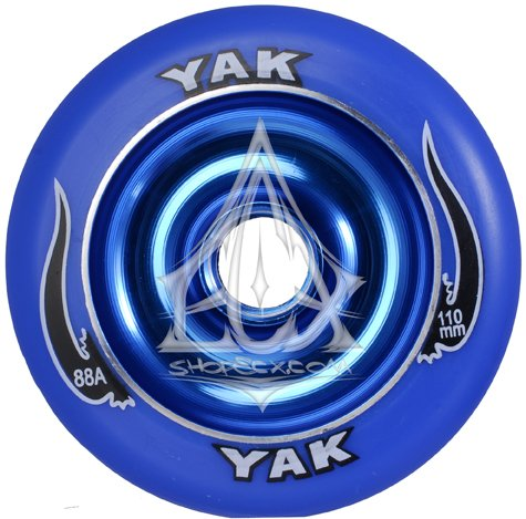 YAK Scat II Metal Core Wheel Blue 110mm