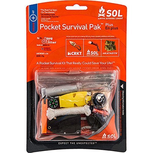 Survive Outdoors Longer Pocket Survival Pak Plus, 0.6 Pound. If it isn't with you, it can't save you. Sold by