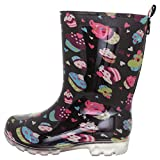 Capelli New York Girls Silver Glitter Rain Boot