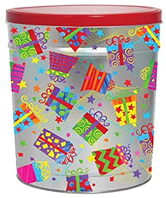Happy Birthday Gourmet Popcorn Tin