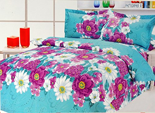 Valtellina Valtellina Angelic Flowers Print Double Bed Sheet