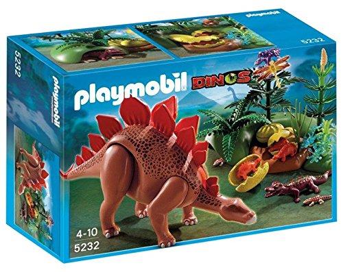 Playmobil-5232-Jeu-de-Construction-Stgosaure-et-ses-Bbs-avec-Fret