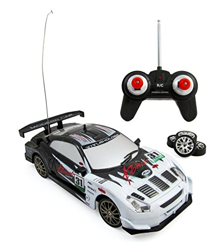 Liberty Imports Super Fast Drift King R/C Sports Car Remote Control Drifting Race Car 1:24 + Headlights, Backlights, Side Lights + 2 Sets of Tires (Drifting Rc Car compare prices)