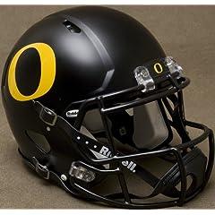 OREGON DUCKS NCAA Riddell Revolution SPEED Football Helmet (MATTE BLACK) by ON-FIELD