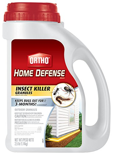 Ortho 0196010 Home Defense MAX Insect Killer Granules, 2.5-Pound (Ant, Spider, and Centipede Killer)