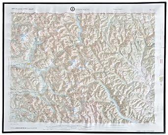 "American Educational Concrete Washington Map with Black Plastic Frame, 31-1/2"" Length x 21-1/2"" Width"