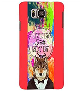 PrintDhaba Quote D-4220 Back Case Cover for SAMSUNG GALAXY ALPHA (Multi-Coloured)