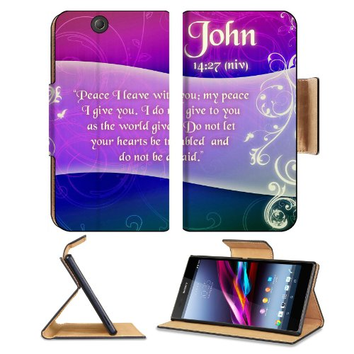 Christian Bible Verse John 14:27 Sony Xperia Z Ultra Flip Case Stand Magnetic Cover Open Ports Customized Made To Order Support Ready Premium Deluxe Pu Leather 7 1/4 Inch (185Mm) X 3 15/16 Inch (100Mm) X 9/16 Inch (14Mm) Msd Sony Xperia Z Ultra Cover Prof