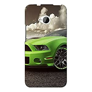Jugaaduu Super Car Mustang Back Cover Case For HTC One M7