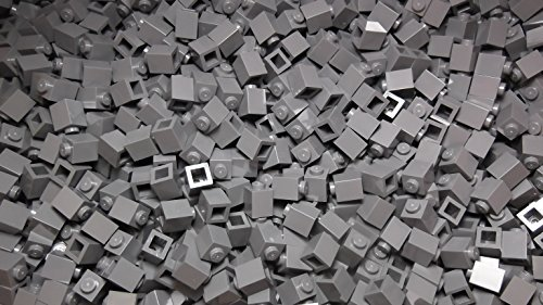100x Lego Dark Stone Grey 1x1 Bricks Super Pack