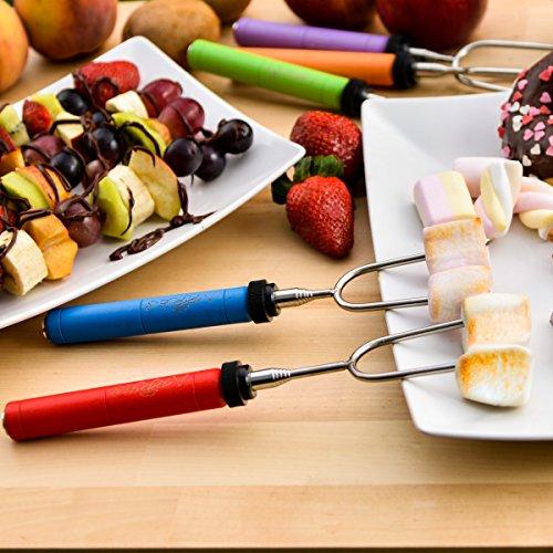 Marshmallow Roasting Sticks Kit Telescoping Stainless Steel Cookware