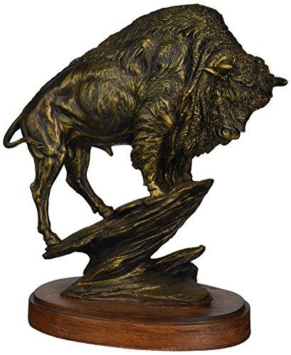 StealStreet SS-UG-PY-1924 Bronzed Like Buffalo Sculpture Model Statue figure Figurine Decor