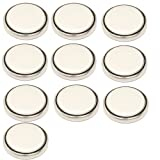 HQRP 10 Pack Lithium Coin Battery compatible with Omron Pedometers HJ-150 HJ-151 HJ-112 HJ-113 HJ-203BL HJ-203PK plus Coaster