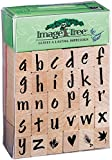 Image Tree Wood Handle Rubber Stamp Set-Susy Ratto Brush Letter Alphabet/Lower