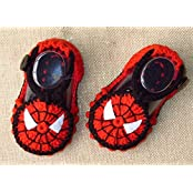 Red Black Silk With Hand-knitted Wool Baby Shoes Baby Toddler Soft Soled Baby Shoes Double Sole One Hundred Days... - B01A9QVGFM
