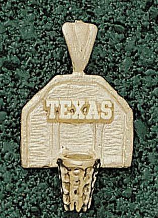 Texas Longhorns Texas Basketball Backboard Pendant - 14KT Gold Jewelry by Logo Art
