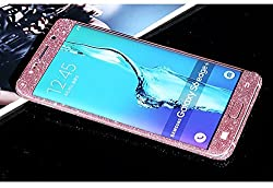 Supstar Luxury Sparkly Bling Full Body Skin Sticker Wrap Covered Edges Vinyl Decal Screen Protector Film for Samsung Galaxy S6 Edge Plus G9280 (Rose)