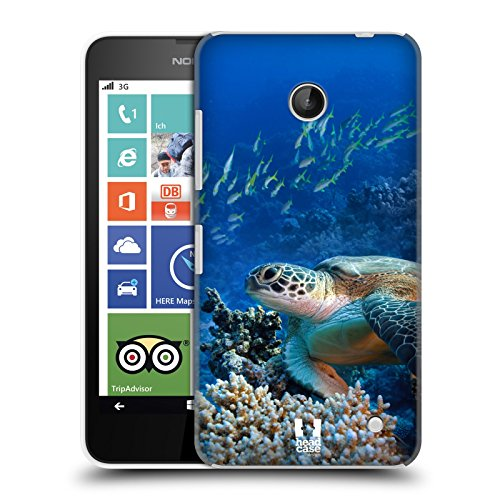 Head Case Designs Sea Turtle Sitting On Coral Reef Wildlife Protective Snap-on Hard Back Case Cover for Nokia Lumia 630 Dual SIM 630 635