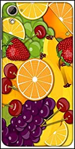 Snoogg Fruity 2428 Designer Protective Back Case Cover For HTC Desire 826