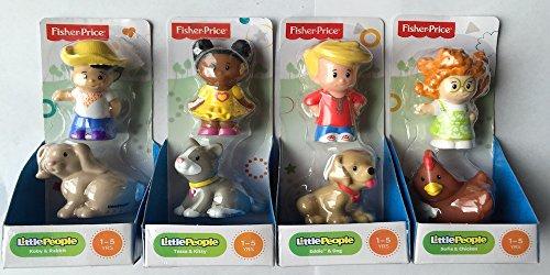 Fisher-Price Little People Farm Set (4 Pack)- Koby & Rabbit, Sofie & Chicken, Tessa & Kitty, Eddie & Dog front-112406