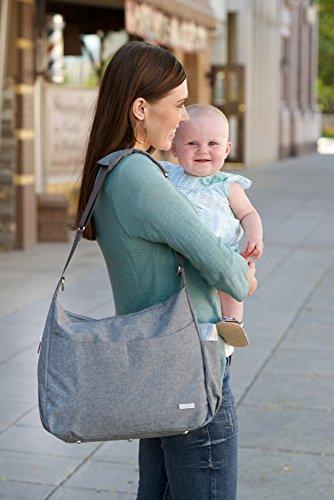 jj cole linden diaper bag gray heather luggage bags bags. Black Bedroom Furniture Sets. Home Design Ideas