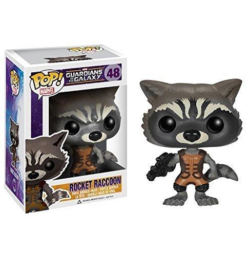 1 X Rocket Raccoon: Funko POP! x Guardians of the Galaxy Mini Bobble-Head Vinyl Figure