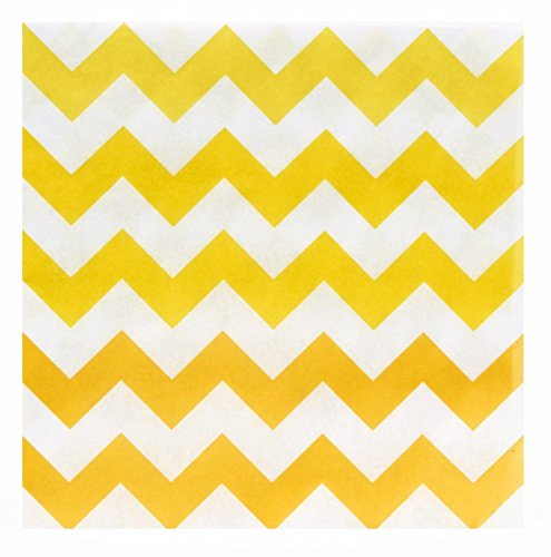 Chevron Yellow Lunch Napkins (20)