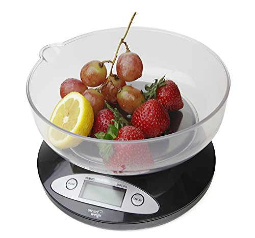 Smart Weigh CSB5KG Digital Multifunction Kitchen and Food Scale with Bowl 11lb x 0.1oz / 5000 x 1g