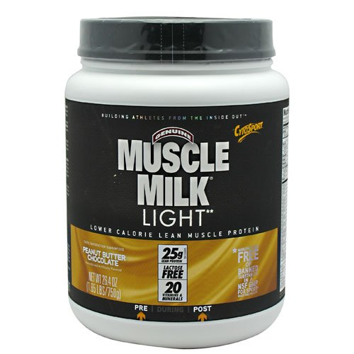 Cytosport Muscle Milk Light Peanut Butter Chocolate - 1.65 Lb (750 G)