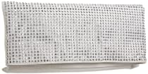 BCBGeneration Lola Clutch,Silver,one size