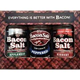 J&D's Bacon Salt 3 Flavor Variety Pack in Gift Box, Low Sodium & Natural