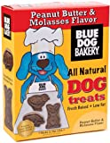 Blue Dog Bakery Natural Low Fat Dog Treats, Peanut Butter & Molasses Flavor, 20-Ounce Boxes (Pack of 6)