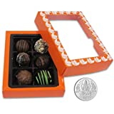 Chocholik Belgium Chocolate Gifts - Exceptional Combination Of Tempting Truffles With 5gm Pure Silver Coin - Gifts...