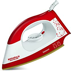 Maharaja Whiteline Blossom DI- 113 1000-Watt Dry Iron (Red)