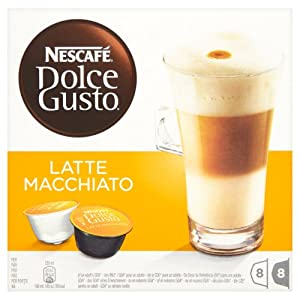 Nescafé Dolce Gusto Latte Machiato 16 Capsules, 8 servings (Pack of 3, Total 48 Capsules/coffee pods, 24 servings)