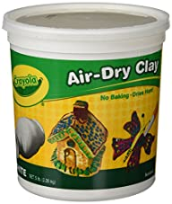 Crayola Air Dry Clay 5 Lb Bucket, Whi…