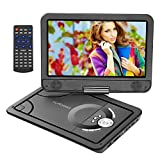 NEXGADGET 10.1 Inch Portable DVD Player TFT 270° Swivel Screen Rechargeable Battery DVD/CD Player for Kids and Car Support TV SD/USB Remote Control Car Charger Power Adaptor Included