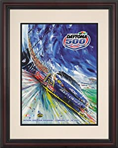 NASCAR Framed 8.5 x 11 Daytona 500 Program Print Race Year: 49th Annual - 2007 by Mounted Memories