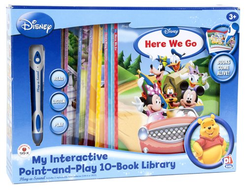 My Interactive Point-And-Play With Disney 10-Book Library (Blue Box) (Point-And-Play) front-428412