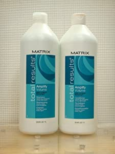 Matrix Total Results Amplify Volume Shampoo and Conditioner 1 Liter Duo Set