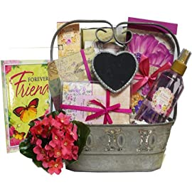 Friends Are Forever Fragrant Aromatherapy and Stationery Gift Basket (Multiple Scents)