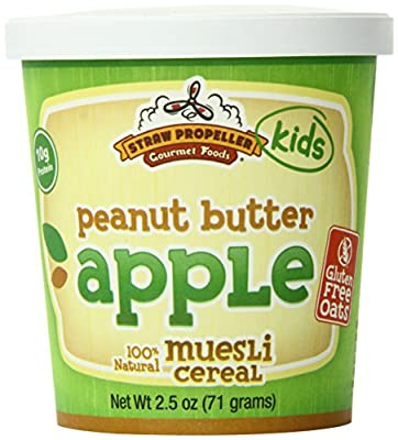Straw Propeller Gourmet Foods Gluten Free Muesli, Peanut Butter Apple, 2.5 Ounce (Pack of 12)