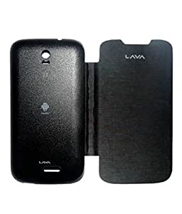 Aara Rich Diary Smart Case Flip Cover Pouch Battery Back For Lava Iris 402 - Black