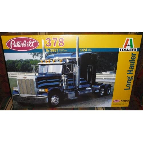 .com: Italeri 1/24 Peterbilt 378 Long Hauler Truck Cab w/Sleeper Kit