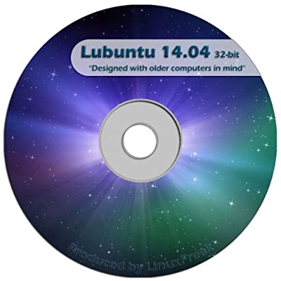 Lubuntu Linux 14.04 CD - FAST Desktop Live CD - Replace Windows XP - Official 32-bit Release