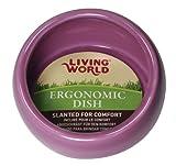 Living World 61685 ergonomischer Keramiknapf für Kleintiere, pink, groß