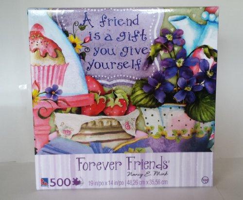 Forever Friends - 500 Piece Puzzle Sure-Lox - Violets - 1