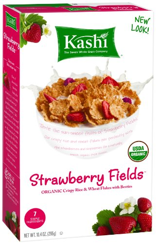 Kashi USDA Organic  Strawberry Fields Cereal, 10.3-Ounce Boxes (Pack of 4)