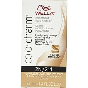 Wella Color Charm Liquid Permanent Hair Color 211/2N Very Dark Brown
